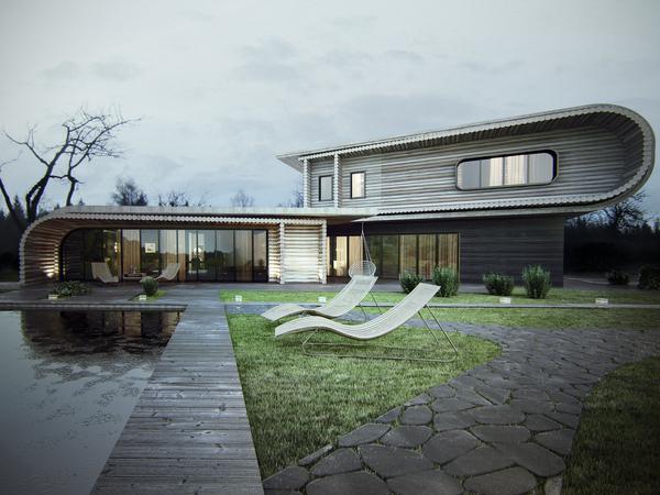 Вид снаружи: жилые дома с необычными фасадами