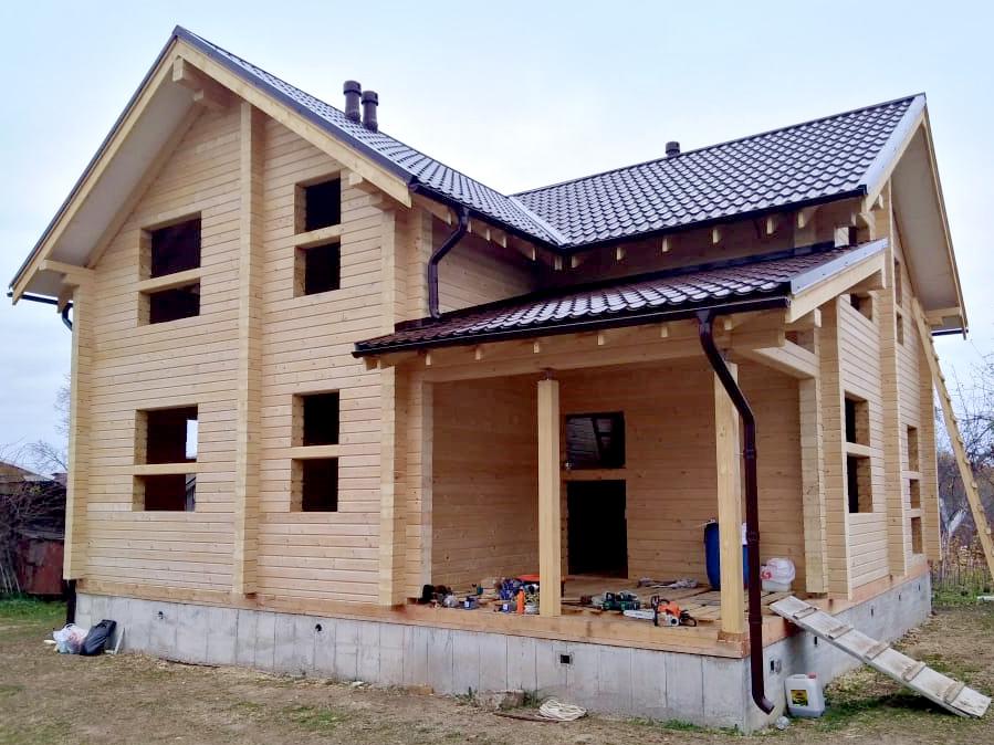 Постройки из профилированного бруса компанией «Финский дом»