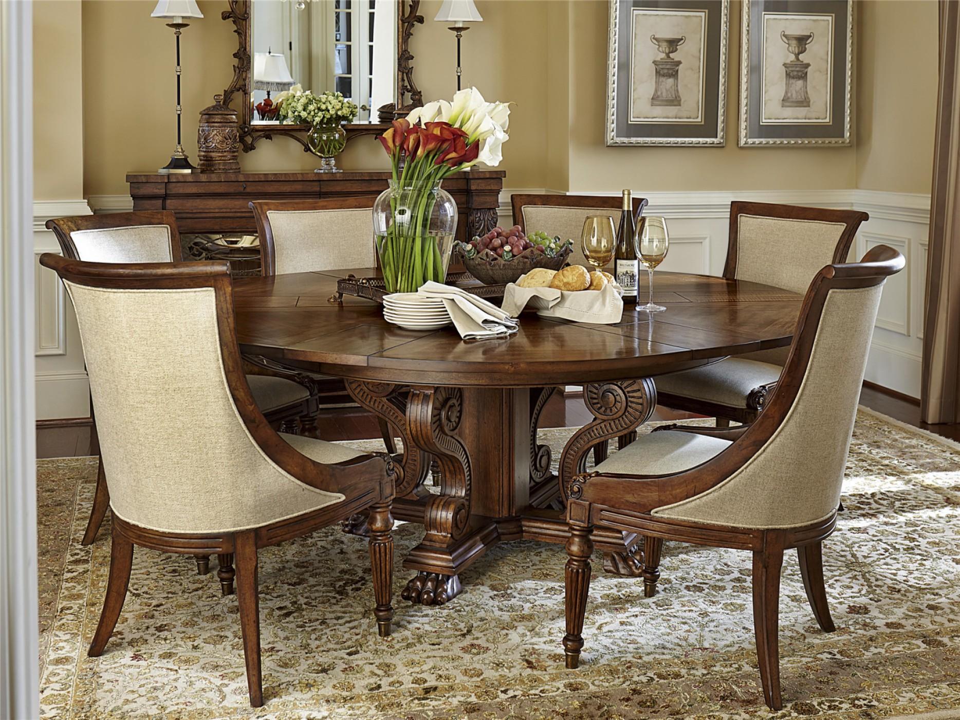 Круглые столы в интерьере дома или квартиры