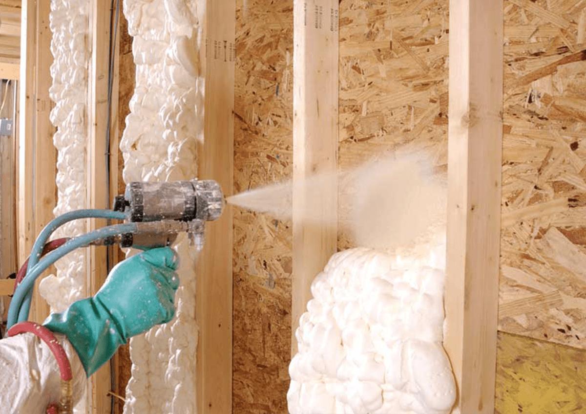 Утепление домов и складов пенополиуретаном