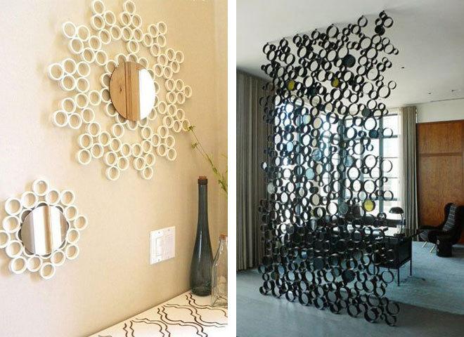 ПВХ-трубы в дизайне интерьера: от декора до мебели