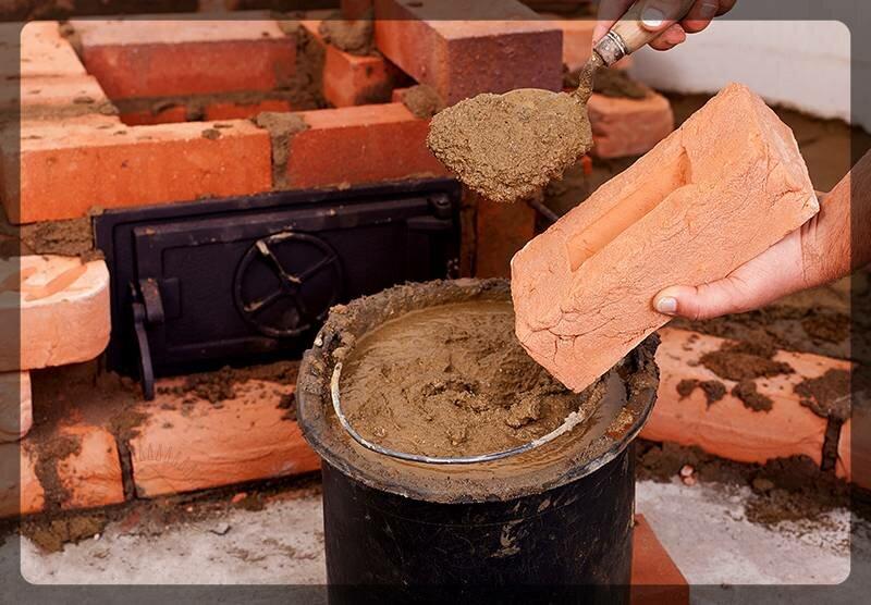 Как приготовить раствор глины для кладки печи?