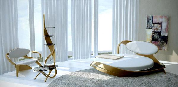 Новый тренд — круглые кровати в интерьере