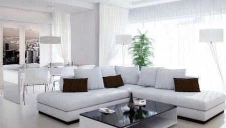 Варианты дизайна интерьера белой гостиной
