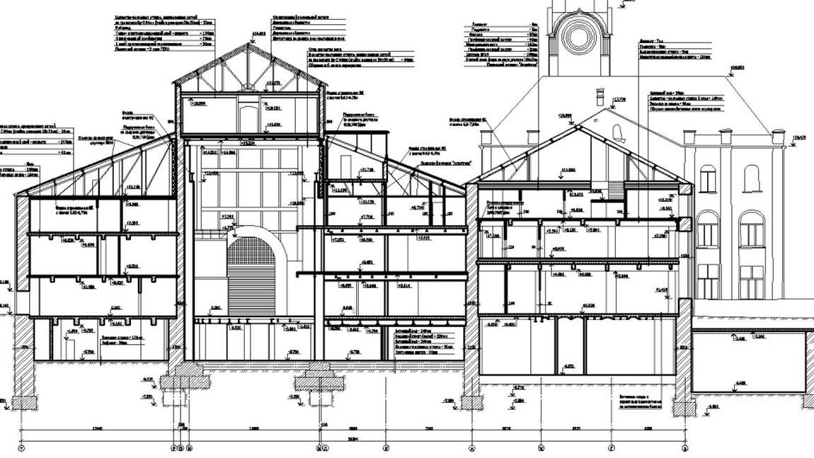 Обмерные работы строительных конструкций зданий