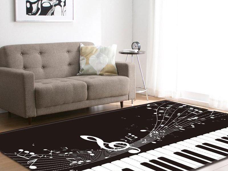 Классическое сочетание черного и белого: ковер в дизайне интерьера
