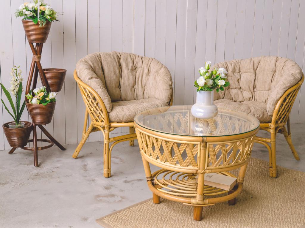 Мебель из натурального ротанга: плюсы и минусы.