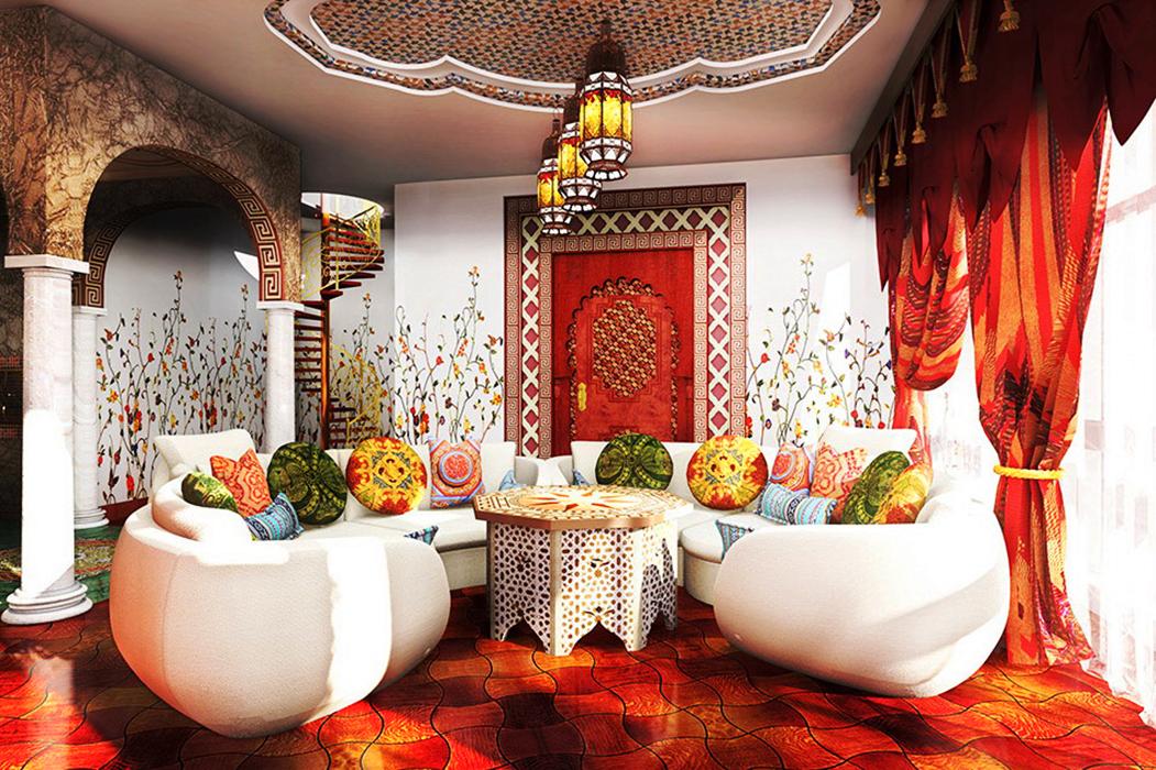 Ванная в восточном стиле: роскошь этнических мотивов