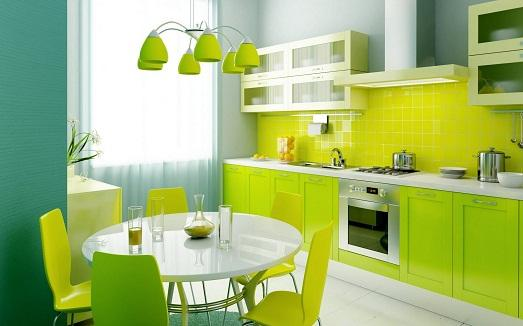 Зеленые краски в нашем доме