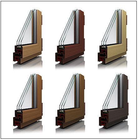 Как получают пластиковые окна коричневого цвета