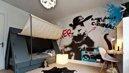 Обои «граффити» в комнату подростка